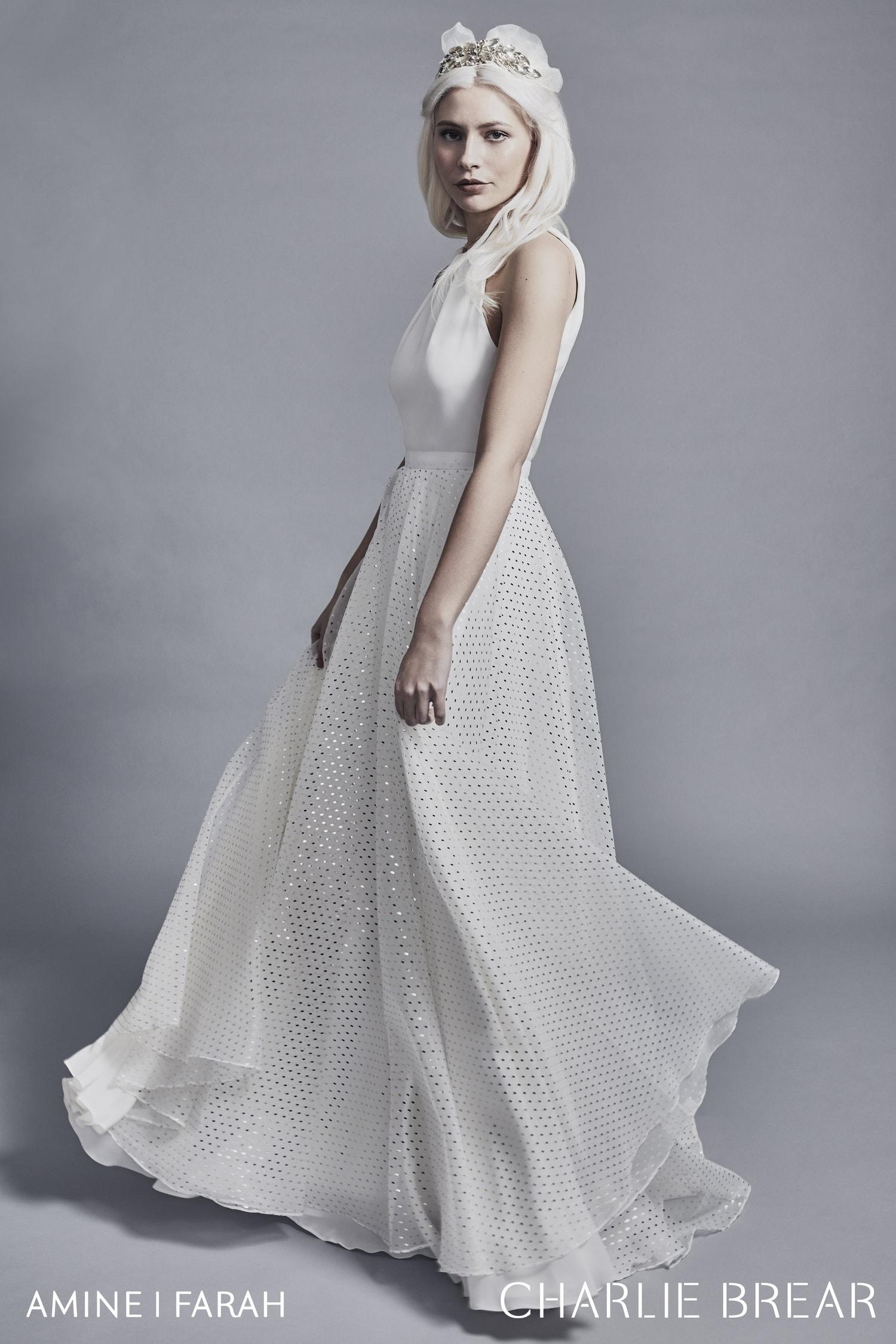 Amine Dress (£2195) & Farah Skirt (£995)